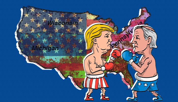 بنسلفانيا - الانتخابات الأمريكية - ولايات حزام الصدأ - نتيجة الانتخابات الأمريكية - دونالد ترامب - جو بايدن - الصوت الكاثوليكي - الكاثوليك البيض - الولايات المتأرجحة
