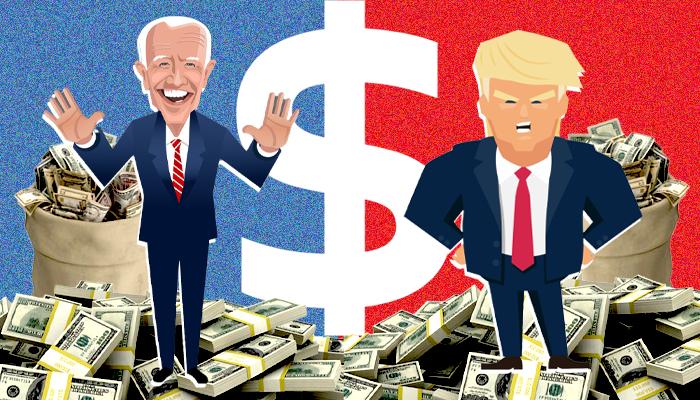 حملة ترامب - حملة بايدن - المال السياسي - الانتخابات الأمريكية 2020 - أموال ترامب