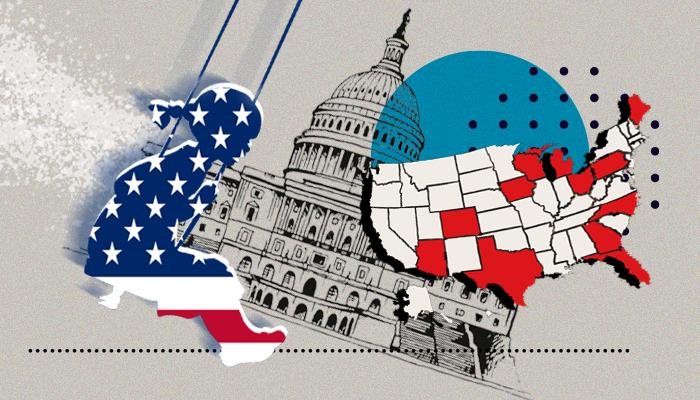 الولايات المتأرجحة- الانتخابات الأمريكية - نتيجة الانتخابات الأمريكية - فوز دونالد ترامب - فوز جو بايدن