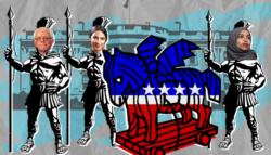 اليسار في الحزب الديمقراطي - بايدن واليسار - اليسار الأمريكي - الحزب الديمقراطي