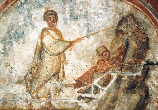 صولجان المسيح كما يظهر في إحدى الرسومات القديمة