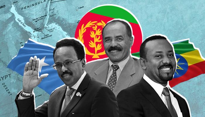 التحالف الكوشي - إريتريا والصومال وإثيوبيا - إريتريا وإثيوبيا - مجلس الدول العربية والأفريقية للبحر الأحمر وخليج عدن